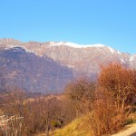 Atmosfera autunnale guardando i monti a nord