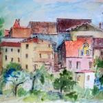 Case di Tambruz - acquerello