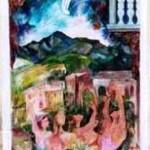 """Cometa di Hale Bopp"" - pittura murale a Borsoi"