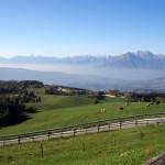 Panorama da Col Indes con veduta sull'Alpago