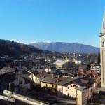 Panorama dai Piai con veduta fino al Nevegal