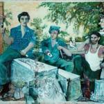 """""""Scalpellini"""" - pittura murale su casa di Tambre"""