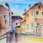 Via Isela - acquerello